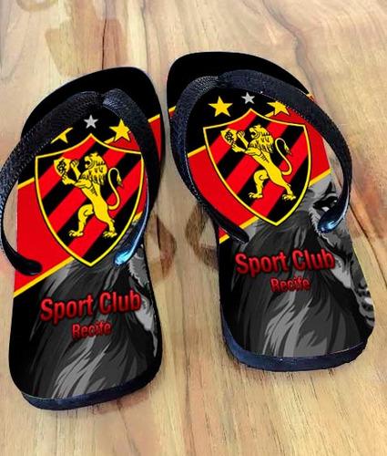 Chinelo Personalizado Do Sport Recife Original