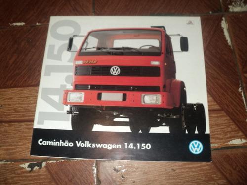 Vw 14.150 Caminhão 1995  Catalogo Lançamento Original