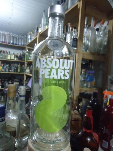 Vodka Absolut Pears Flavored Vazia 1 Lt Orgulhodoml2 N11 Original