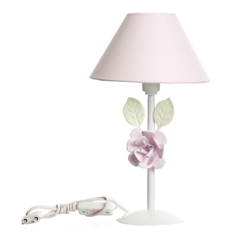 Abajur Metal Flor G Rosa