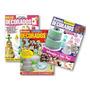 3 Revistas Bolos Decorados Infantis Aniversários Casamentos