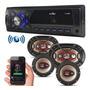 Kit Som Carro Radio Mp3 Bluetooth Usb Auto Falante 6 6x9