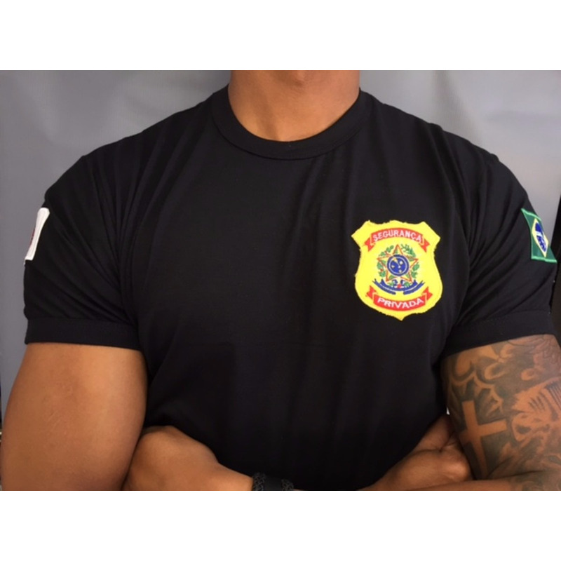 Camisa Preta Segurança Privada - Bordada