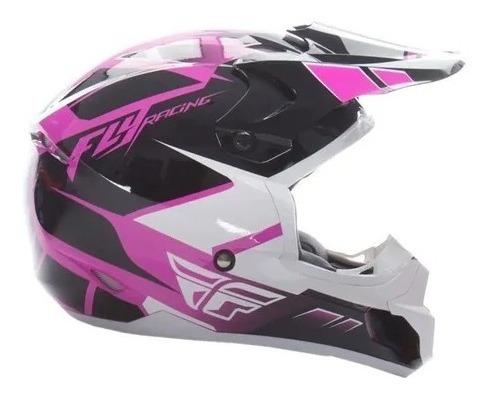 Capacete Motocross Enduro Bmx Fly Kinect Impulse Rosa Original