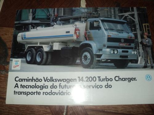 Vw 14.200 Caminhão  1990  Catalogo Lançamento Original