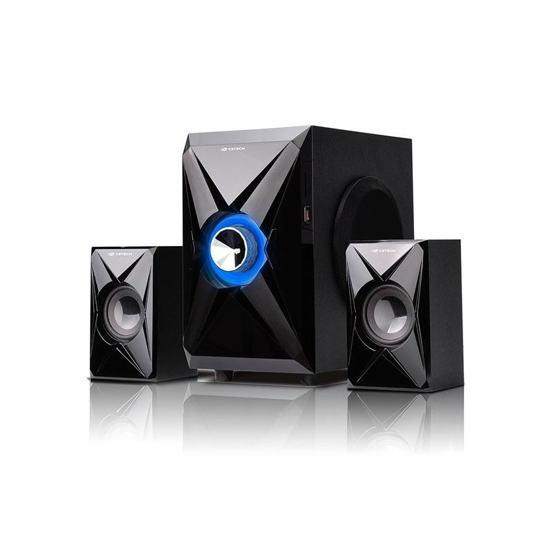 CAIXA DE SOM SPEAKER 2.1 FM SD USB C3TECH SP-260BK PRETO