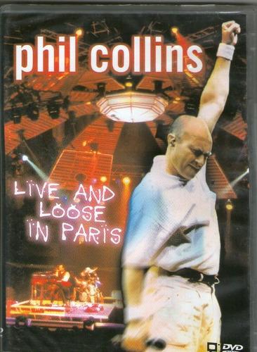 Dvd Phil Collins - Live And Loose In Paris - Novo*** Original