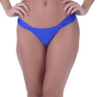 Calcinha Summer Soul Cós Médio Com Franzidos Azul Royal