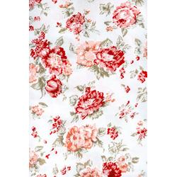 Tricoline Floral Vermelho