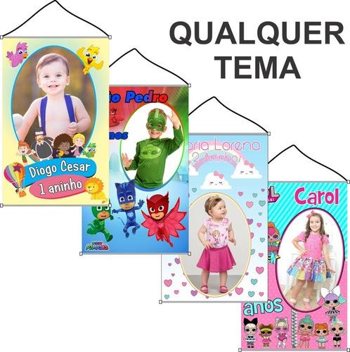 Banner De Aniversário Infantil Personalizado Tema Livre Original