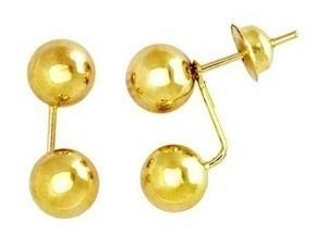 Brinco Gracce Kelli Bola Ouro 4mm 18k Garantia  Original