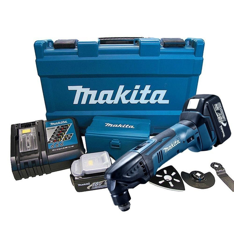 Multiferramenta Makita a bateria 14.4/18V com kit 2Bat.220V