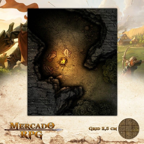 Grid Rpg Dungeons And Dragons Acampamento Na Fenda Gélida