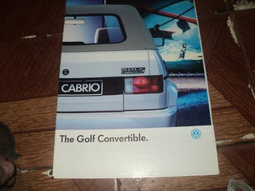 Vw Golf Conversivel 1989 Catalogo Lançamento Original