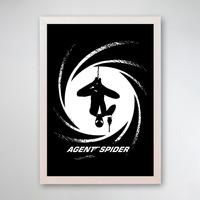 PÔSTER COM MOLDURA - AGENTE SPIDER