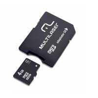 Cartão de Memória 4GB com Adaptador para SD Multilaser - MC456
