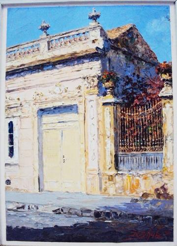 Quadro Óleo Sobre Eucatex Casa Antiga Ricardo Schulz 1981 Original