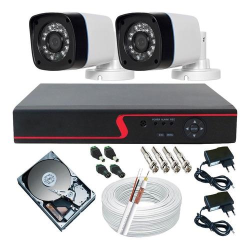 Kit Câmeras De Segurança Residencial + Dvr 4ch Ahd P2p Hdmi Original