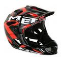 Capacete Bike Full Face Enduro Met Parachute Preto/Vermelho