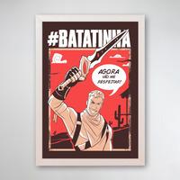 PÔSTER COM MOLDURA - BATATINHA