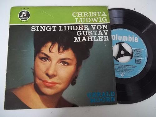 Vinil Compacto Ep - Christa Ludwig Singt Lieder Von Gustav Original