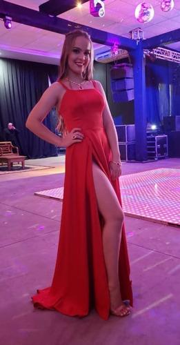 Vestido De Festa Vermelho - Usado Apenas 1 Vez Original