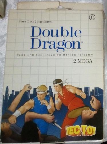 Cartucho Master System Double Dragon Caixa Papelão - Raro!!! Original