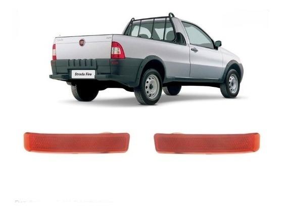 Kit Par Refletor Para-choque Traseiro Strada 2004