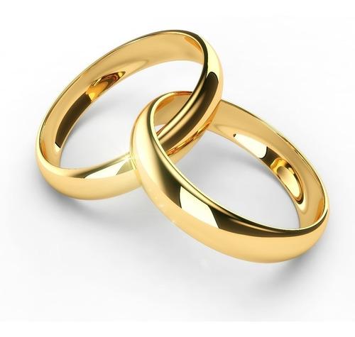 Par De Alianças Ouro 18k Banhada Casamento Tungstênio 4mm Original