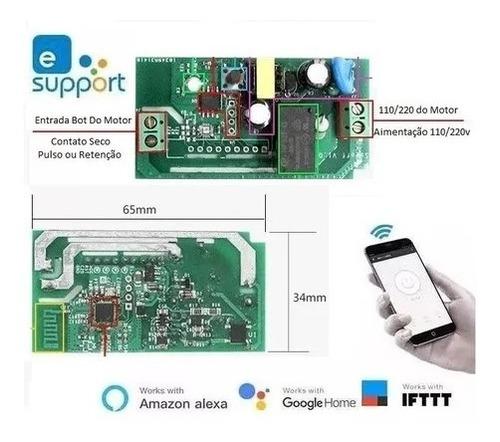 Sonoff Wifi P/ Portão Automático Bivolt Celular Alexa Google Original