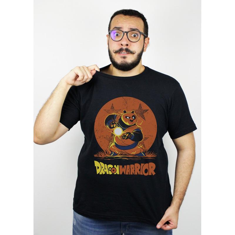 CAMISETA PRETA - DRAGÃO GUERREIRO