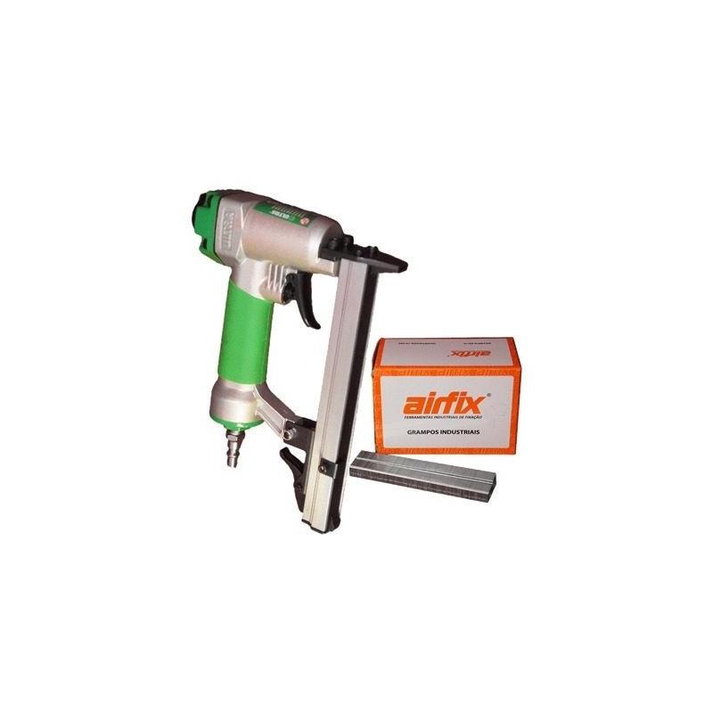 Kit Combo Grampeador Pneumático 80 + Grampos de 8mm - Ultra