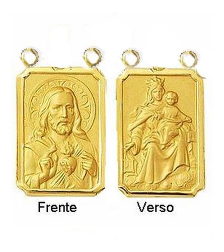 Medalha P/ Escapulario 27 Imagens De Santo Ouro 18 Df T1 Original