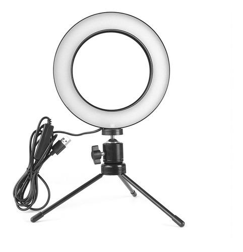 Iluminador Ring Light De Mesa Profissional Com Tripe 6' 16cm Original