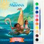 Livro Infantil Brochura Para Colorir Aquarela Disney Moana!!