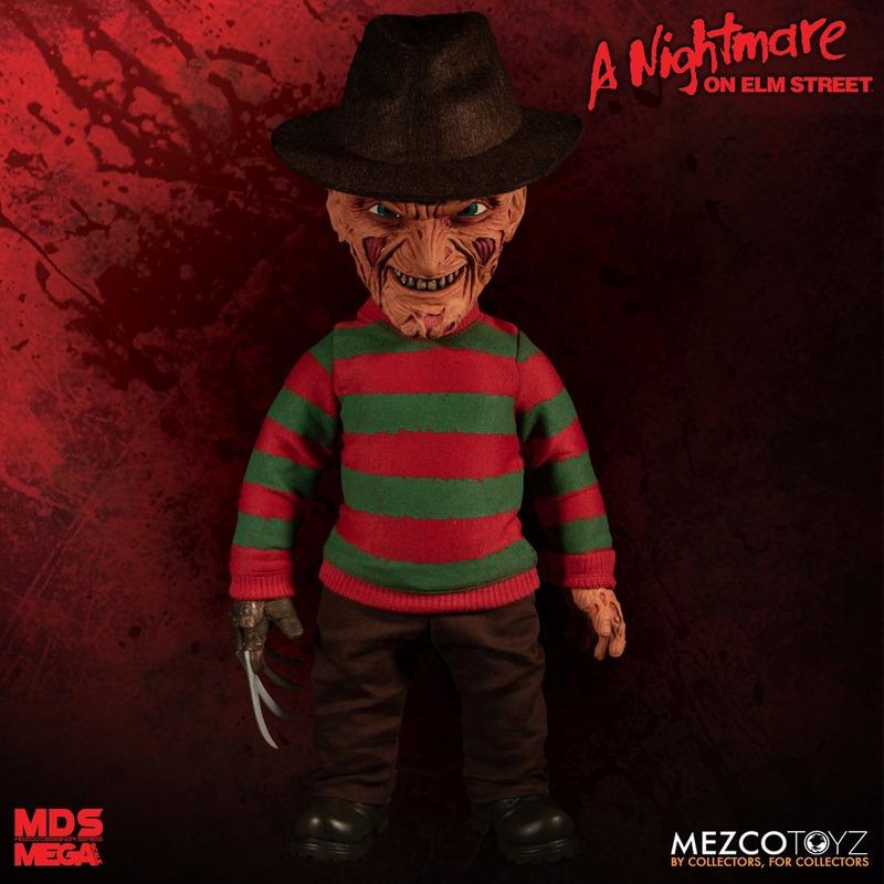 Boneco Freddy Krueger MDS Mega Scale - 38 cm c/ Som - Mezco