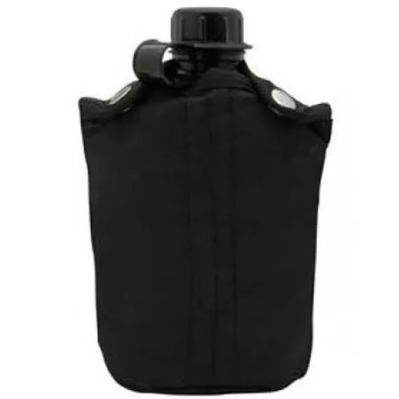 Cantil Militar Preto 900 ml C/ Capa Nylon