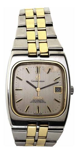 Omega Constellation Aço E Ouro Maciço 18k Relogio Automatico Chronometer Calendario Segundeiro Tinge Assinado J21693 Original