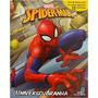 Livro C/ 12 Miniaturas Cenário Spider Man Universo Aranha