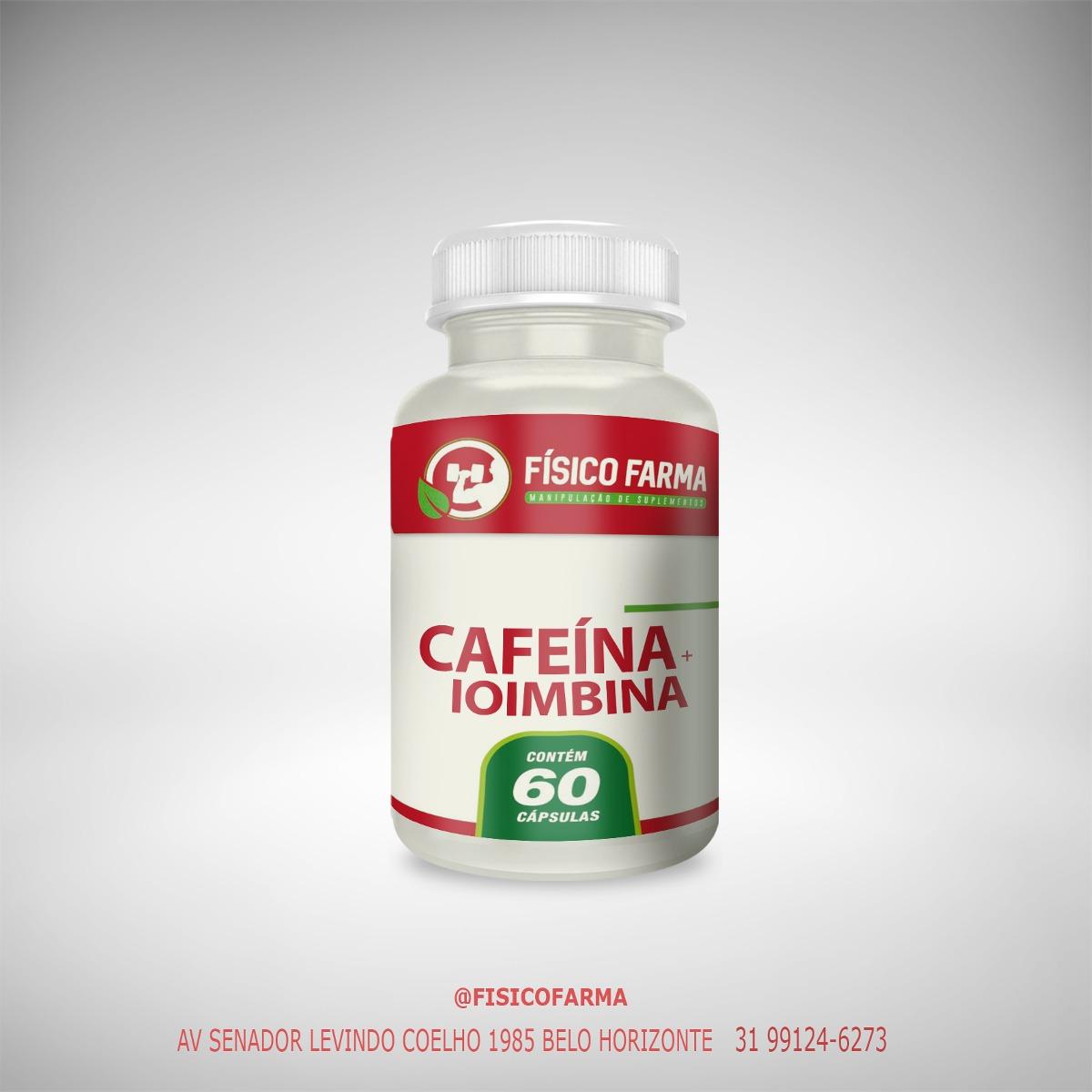 Cafeína  210mg + Ioimbina 5mg - 60 Cápsulas...
