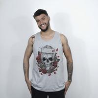 CAMISETA REGATA CINZA - NAVY SKULL COLORIDO