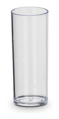 Kit 8 Copos Tubo 300ml Acrílico Transparente Original