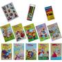 Livrinhos Infantil Colorir Adesivos giz De Cera canetinha