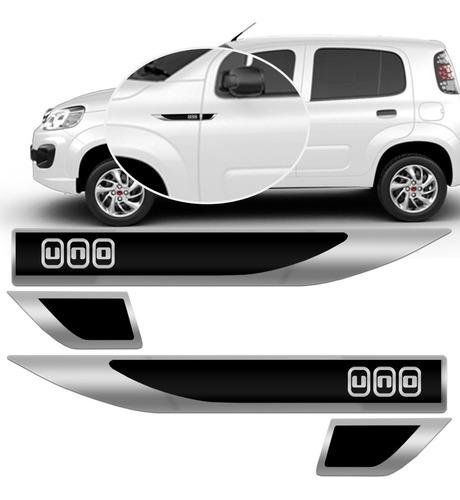 Par Emblema Lateral Resinado Fiat Novo Uno Vivace Way Drive Original