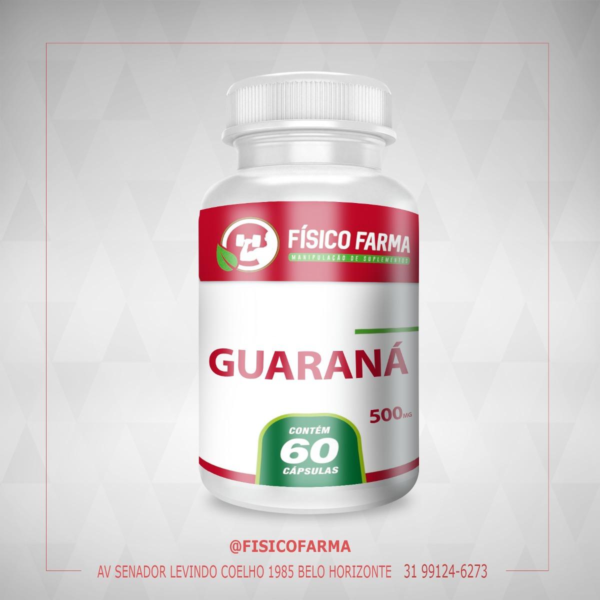Guaraná 500mg - 60 cápsulas (guarana)