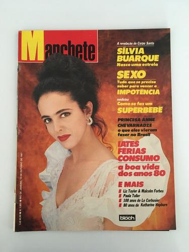 Revista Manchete Sílvia Buarque - 10 Outubro 1987 Nº 1851 Original