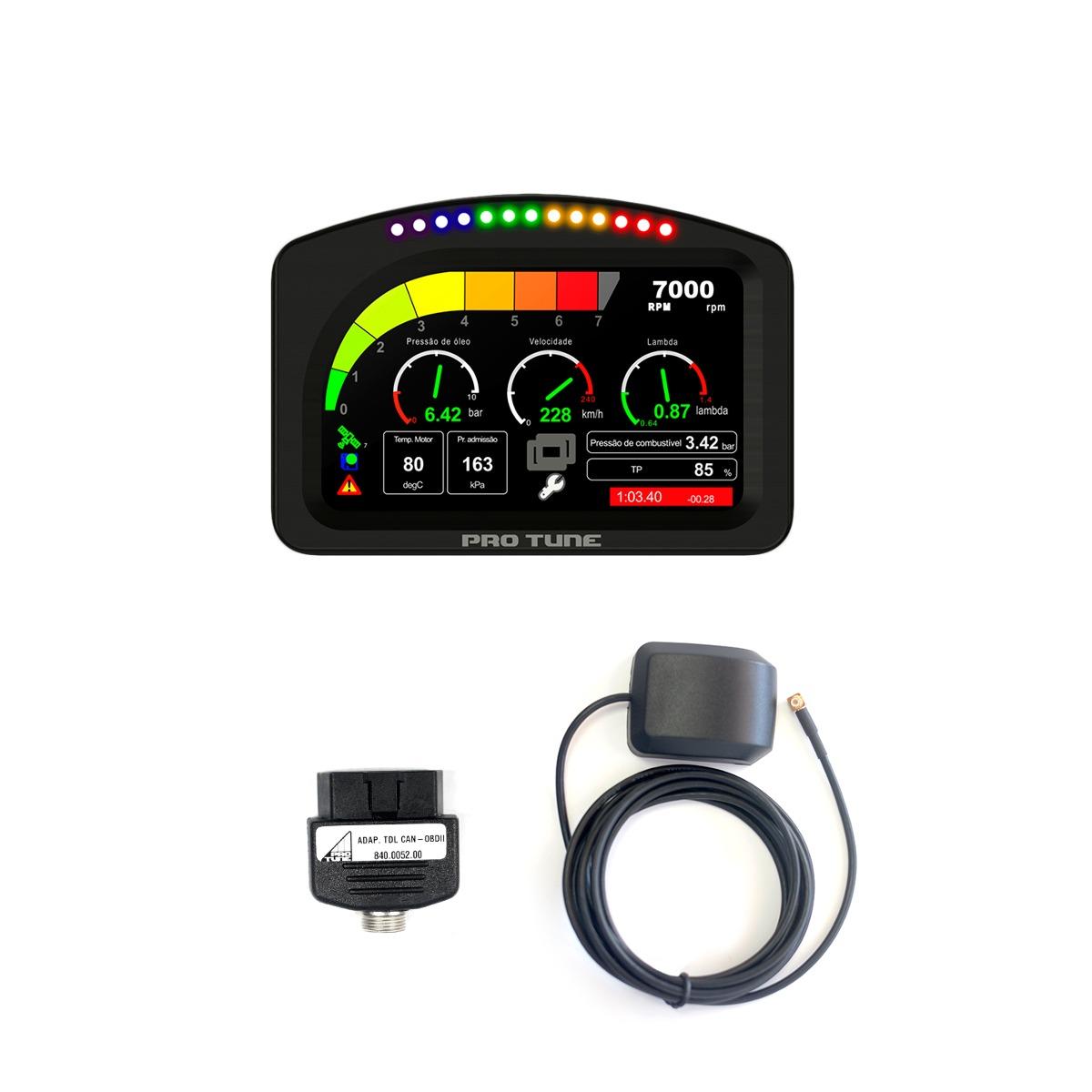 Dash 4.3 + Antena GPS + OBDII - Kit