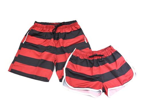 Short Mauricinho Summer Moda Praia Mengão Kit Casal 2 Shorts Original