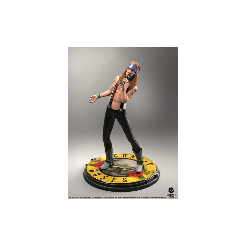 Estátua Axl Rose KnuckleBonz - Guns N' Roses - Rock Iconz Statue