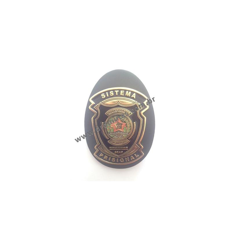 Distintivo Agente Sistema Prisional MG - SEAP